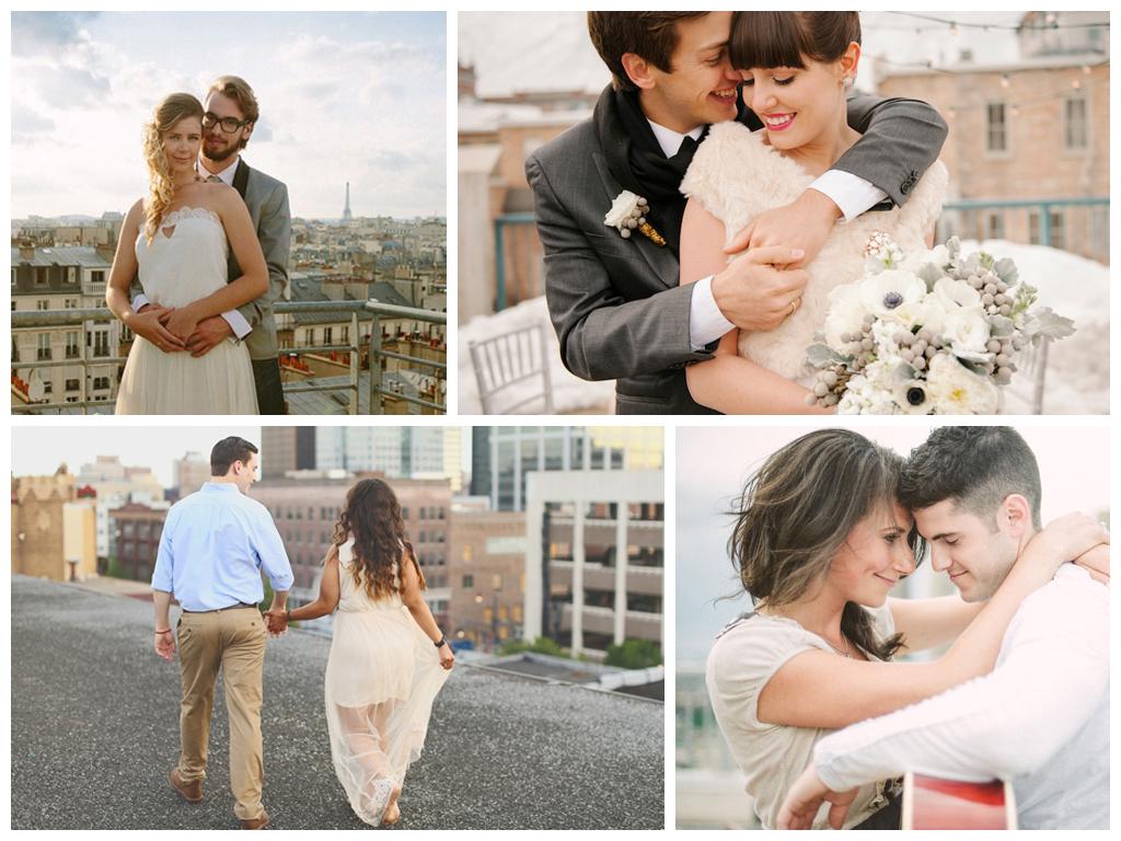 Романтические фотографии на столичной крыше Москва