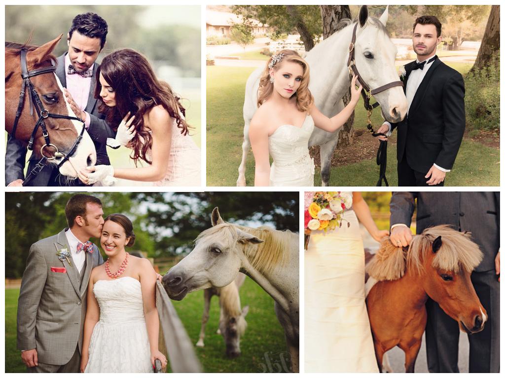 Свадебная фотосессия на лошадях Москва