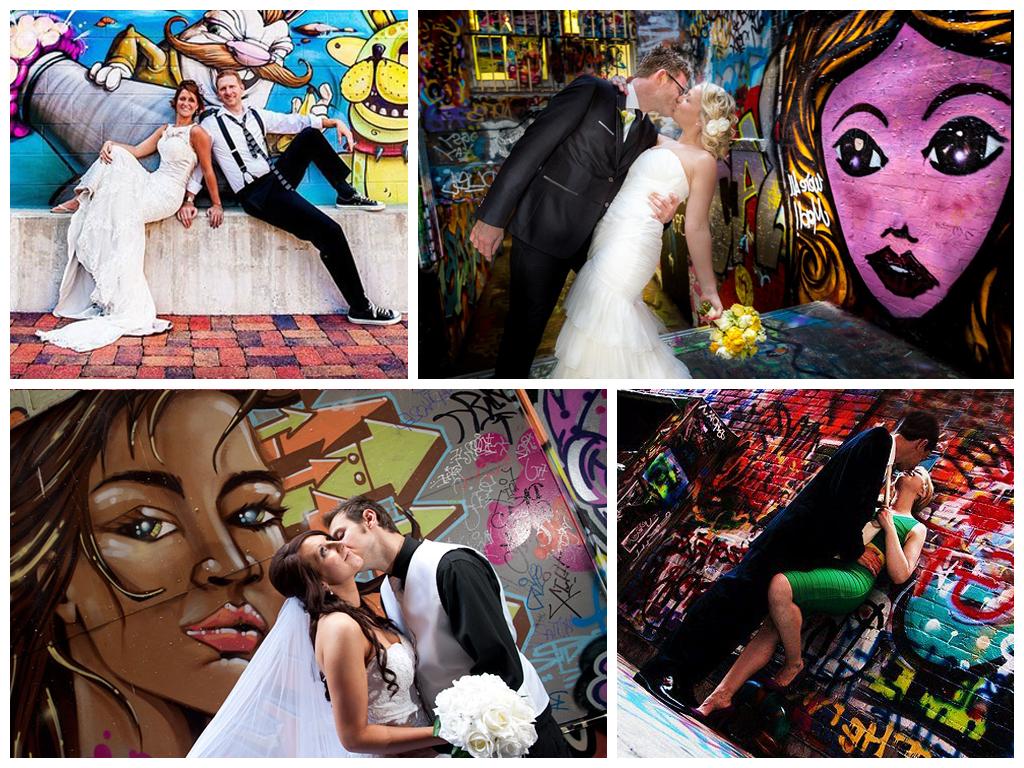 Красочная фотосессия на фоне стен с граффити Москва