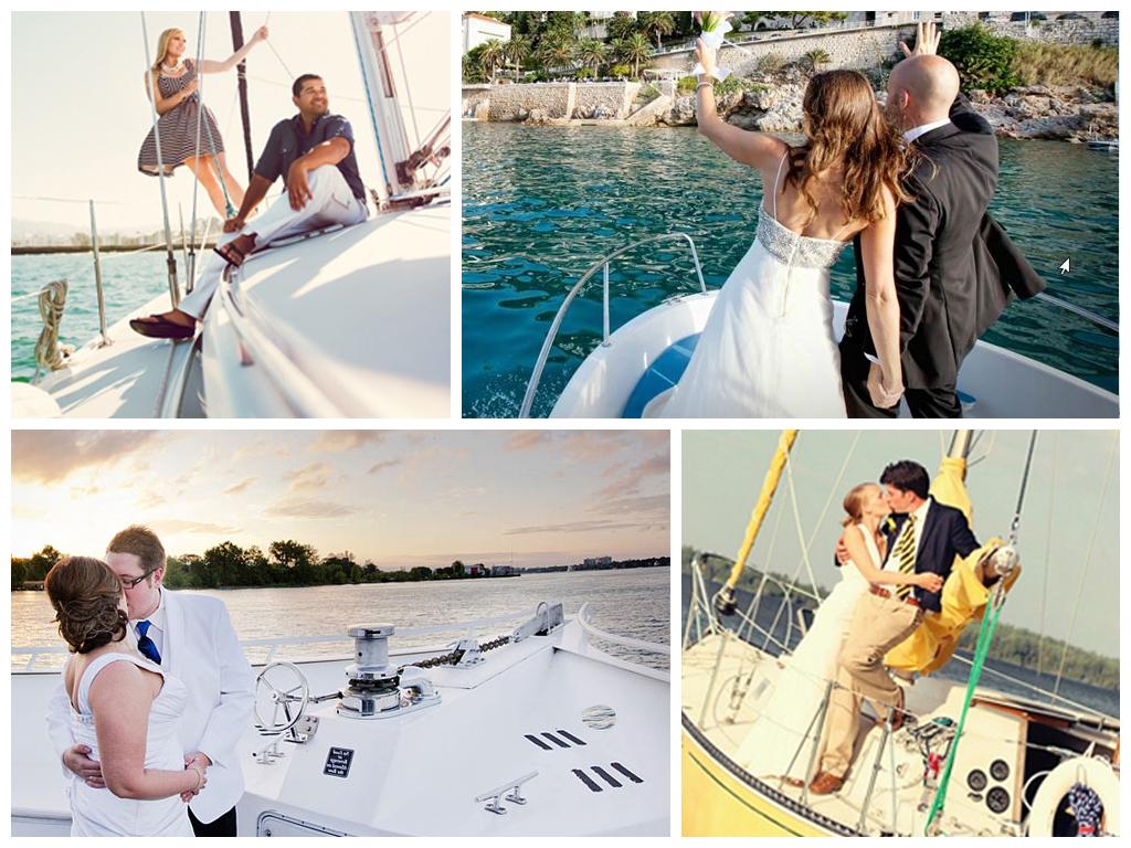 Свадебная фотопрогулка на яхте и катере Москва