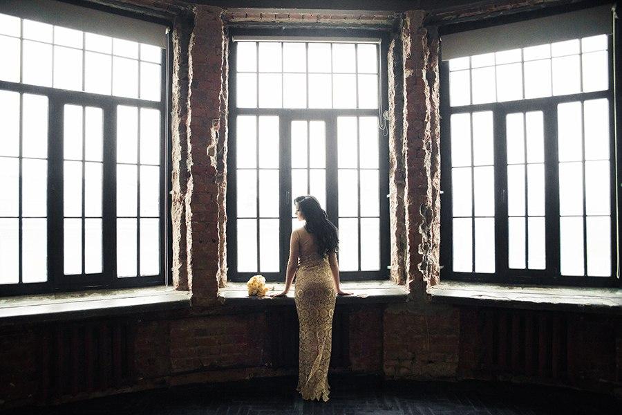 идеи для свадебной съемки: заброшенные здания