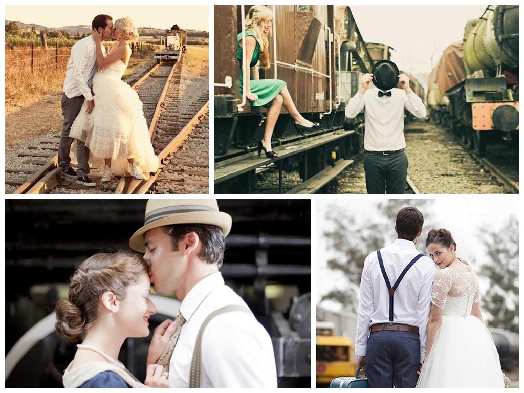Свадьба – начало нового жизненного пути, по которому вы будете идти вместе от станции к станции. Фотосъемка на железной дороге, в поезде, на вокзале символична и дает большой простор для фантазии.