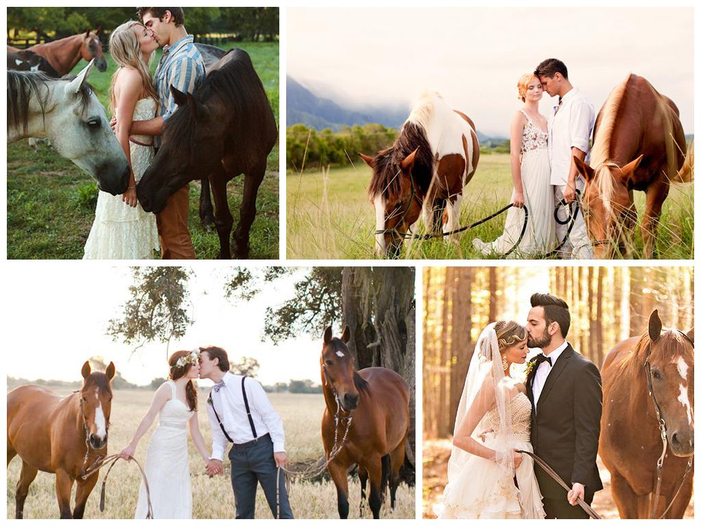 Романтическая прогулка на лошадях
