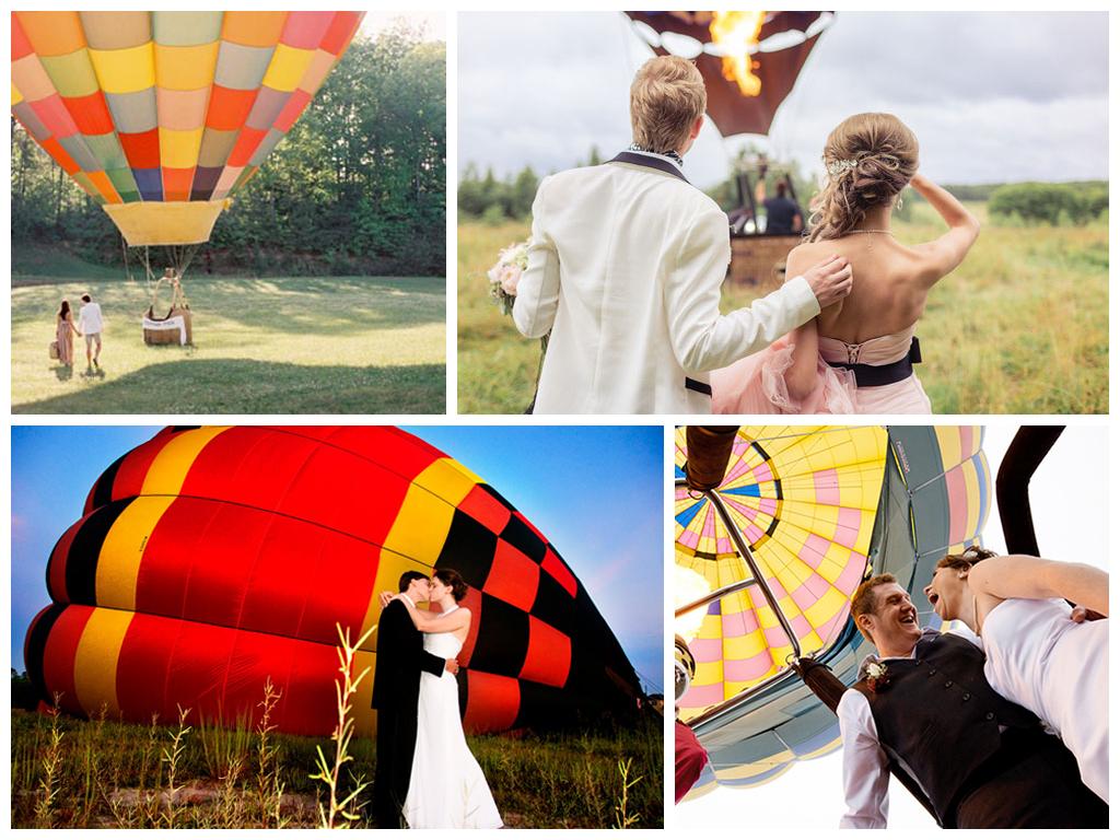 Свадебная фотосессия на воздушном шаре и самолете Москва