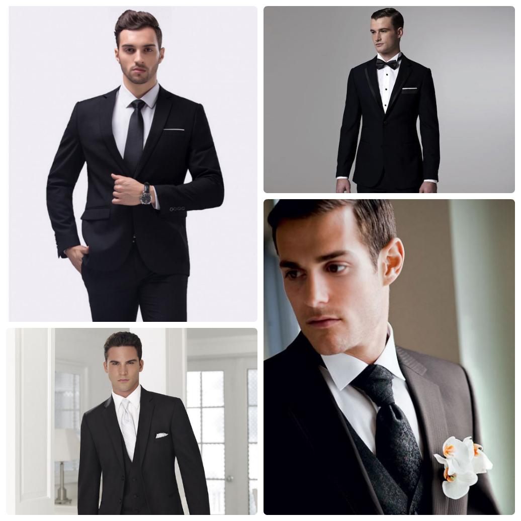 Свадьба в черно-белом стиле