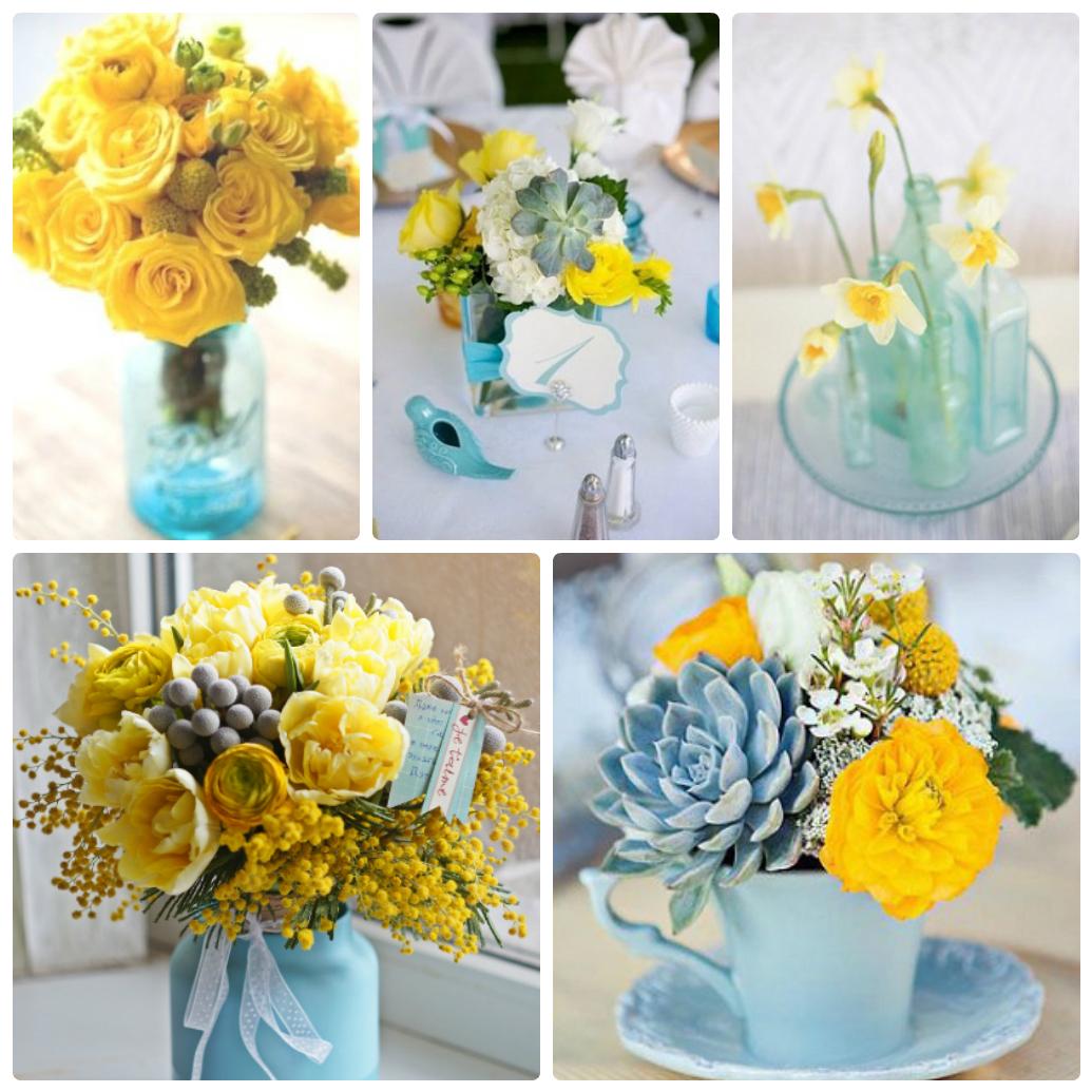 сине желтая свадьба