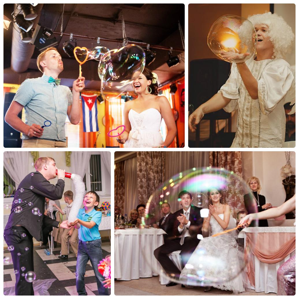 Мыльные пузыри на свадьбу фото