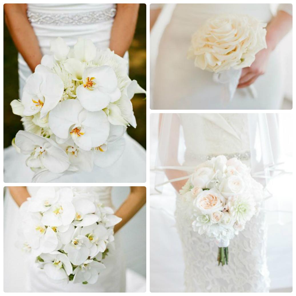 белая свадьба, белый букет невесты