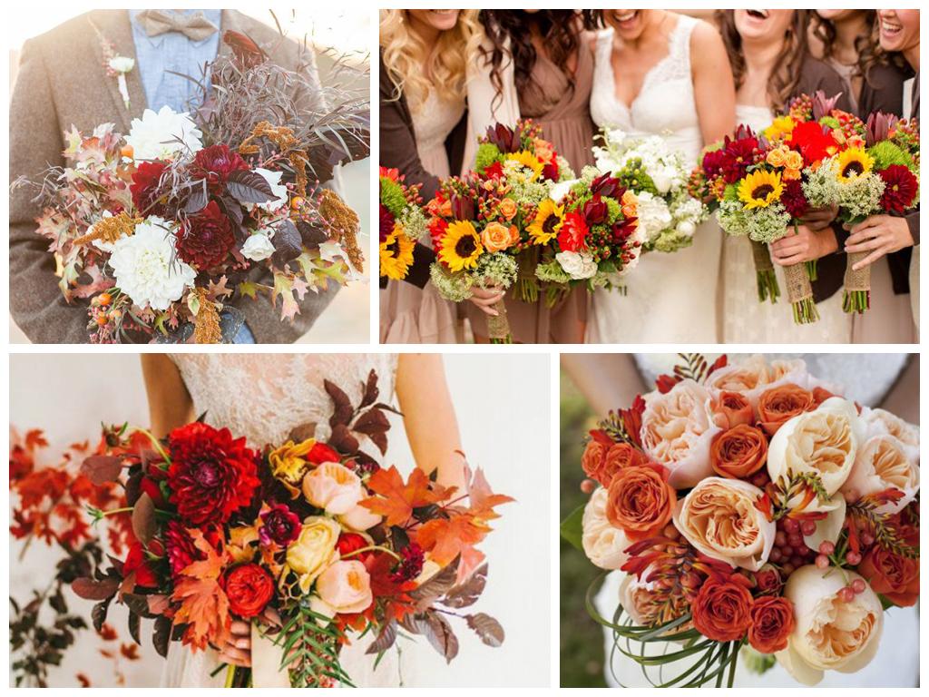 Свадьба осенью: как подготовиться к торжеству. Рекомендации по выбору цветовой палитры, оформлению и составлению букета невесты для осенней свадьбы.