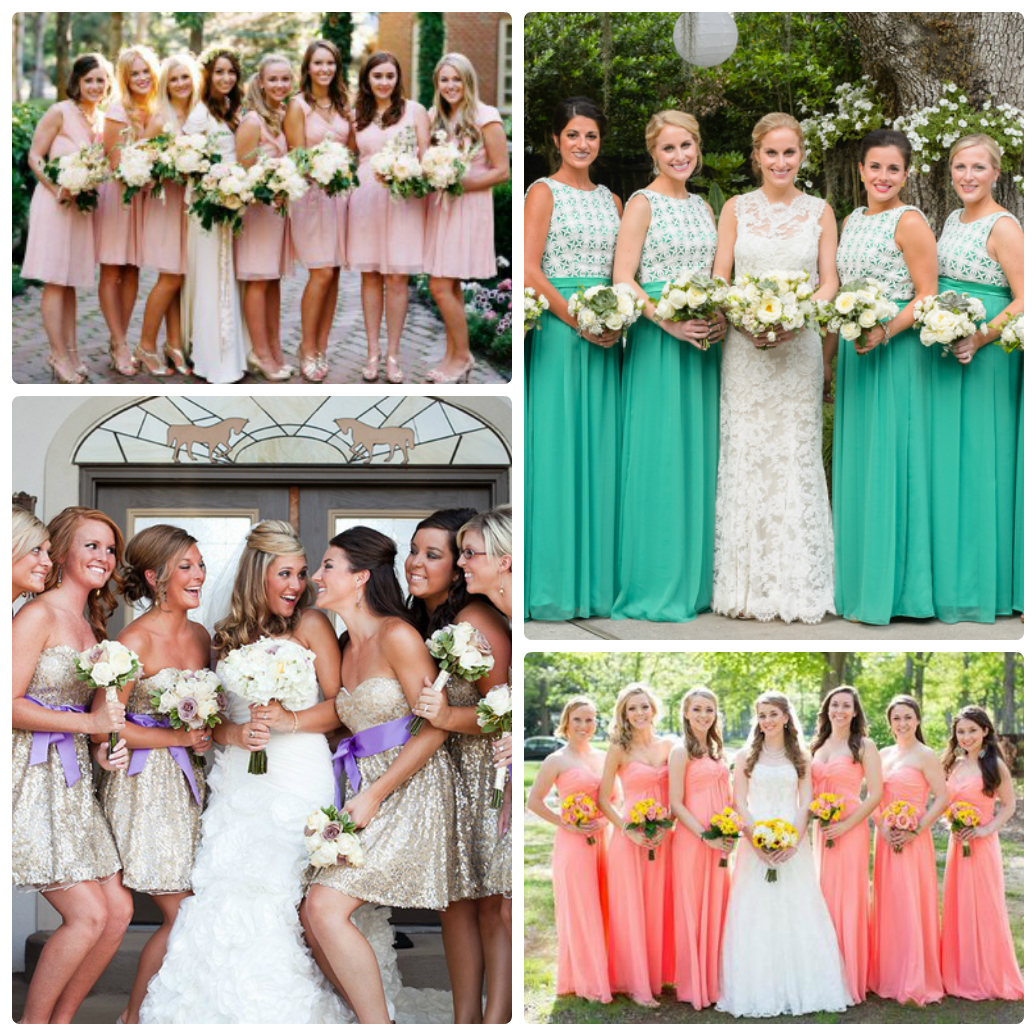 Свадьба в одинаковых платьях фото