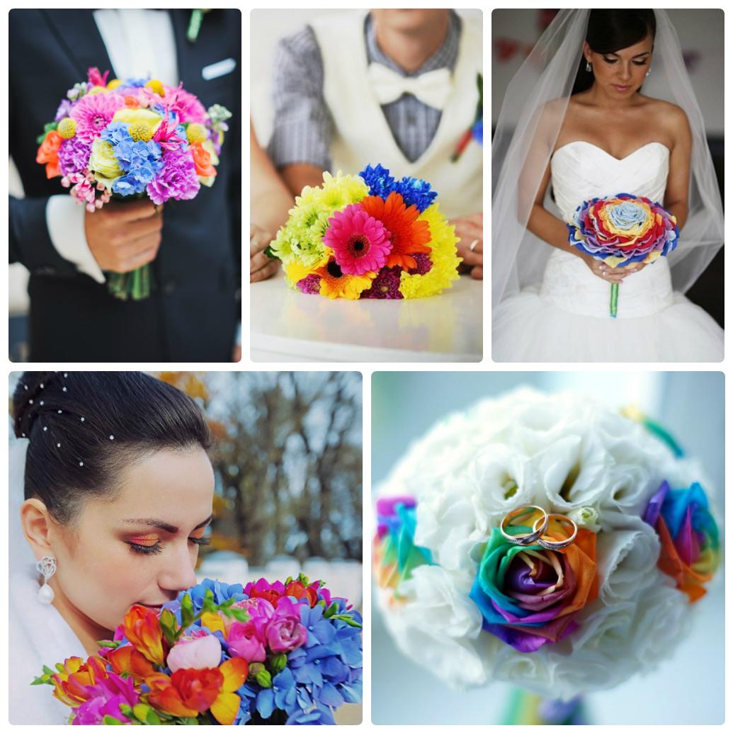 Свадьба в стиле радуга фото