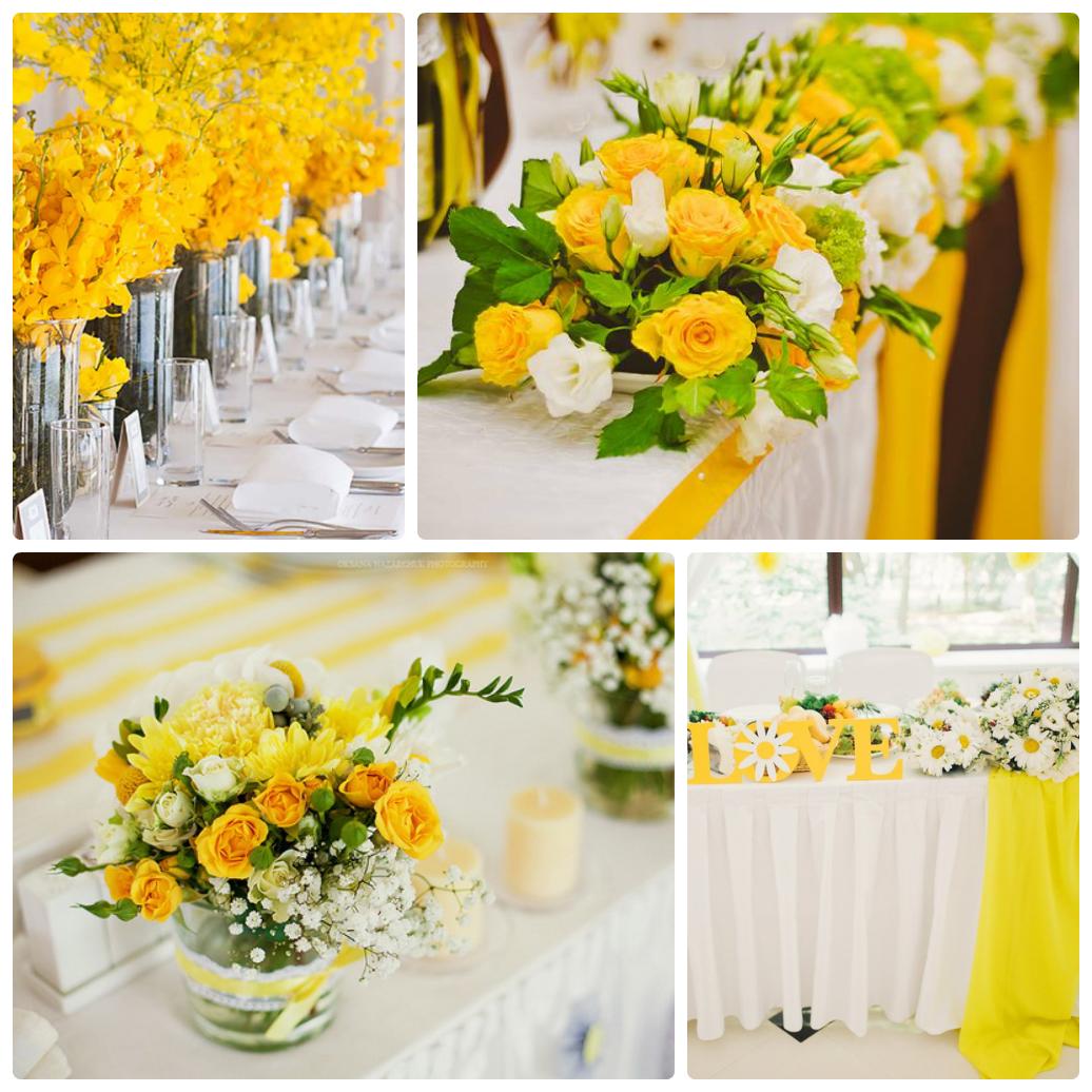 Свадьба в желтый цвете оформление фото