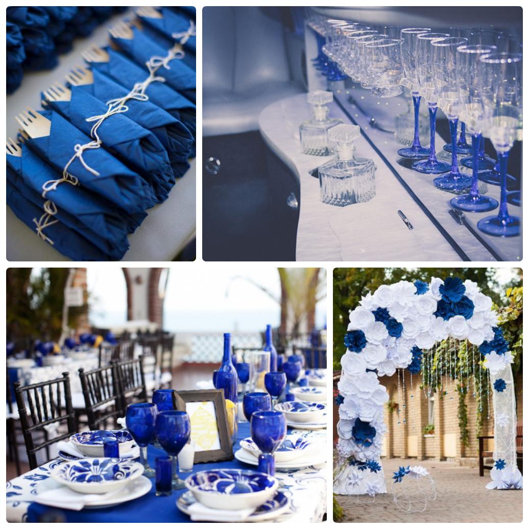 Свадьба в синем цвете фото
