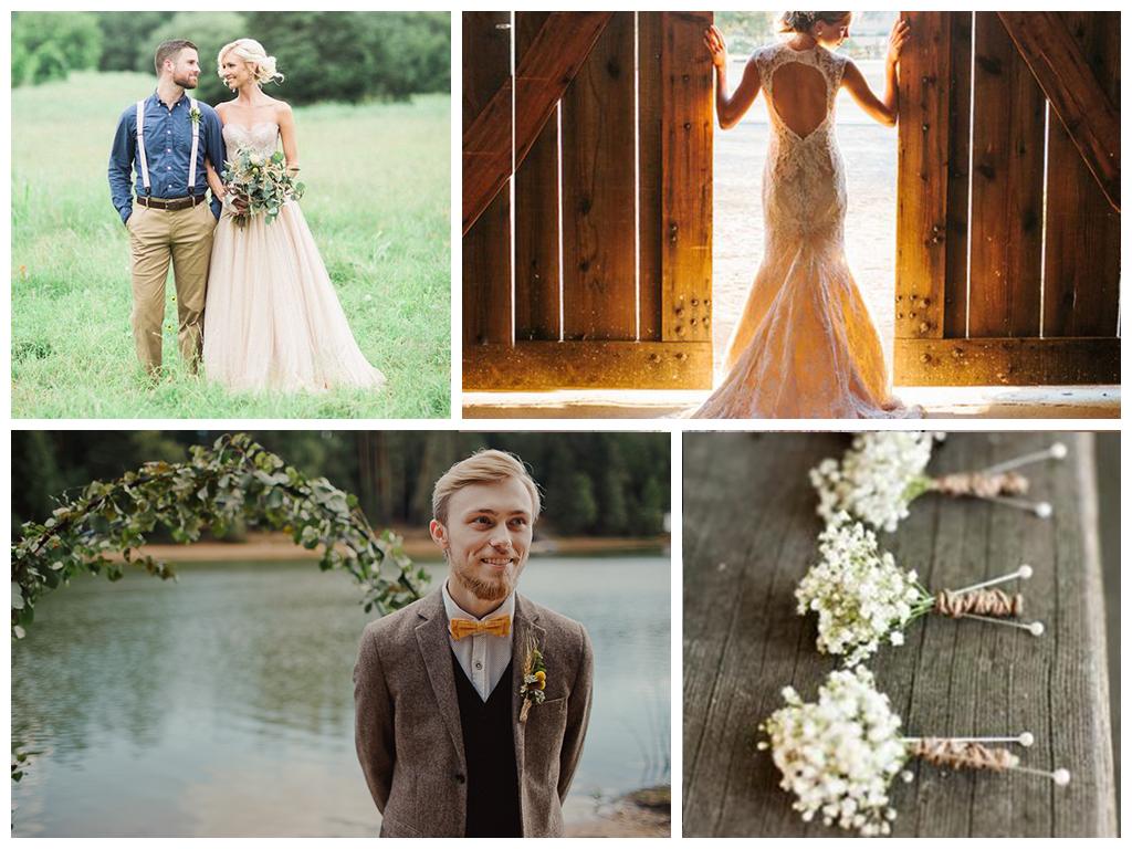 свадьба рустик фото