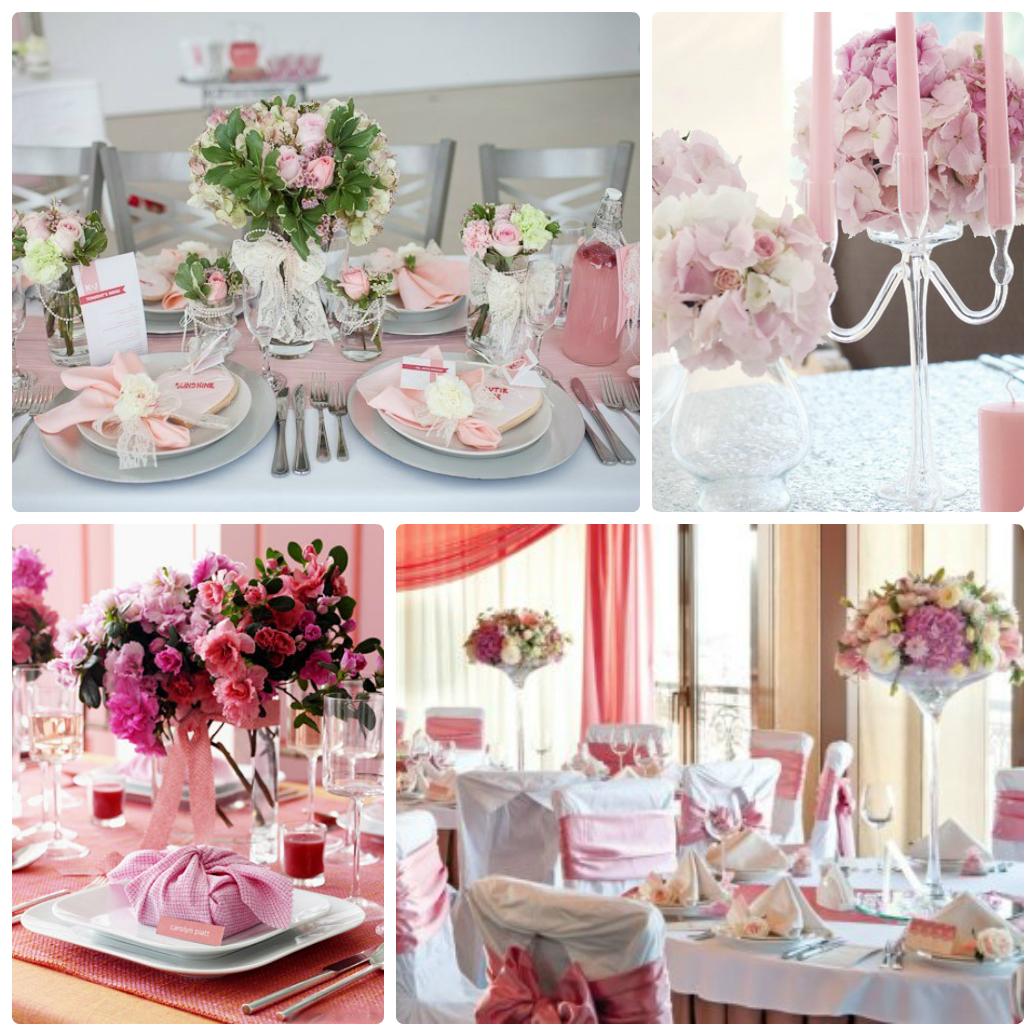 бело-розовая свадьба