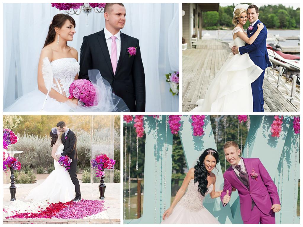 свадьба фуксия