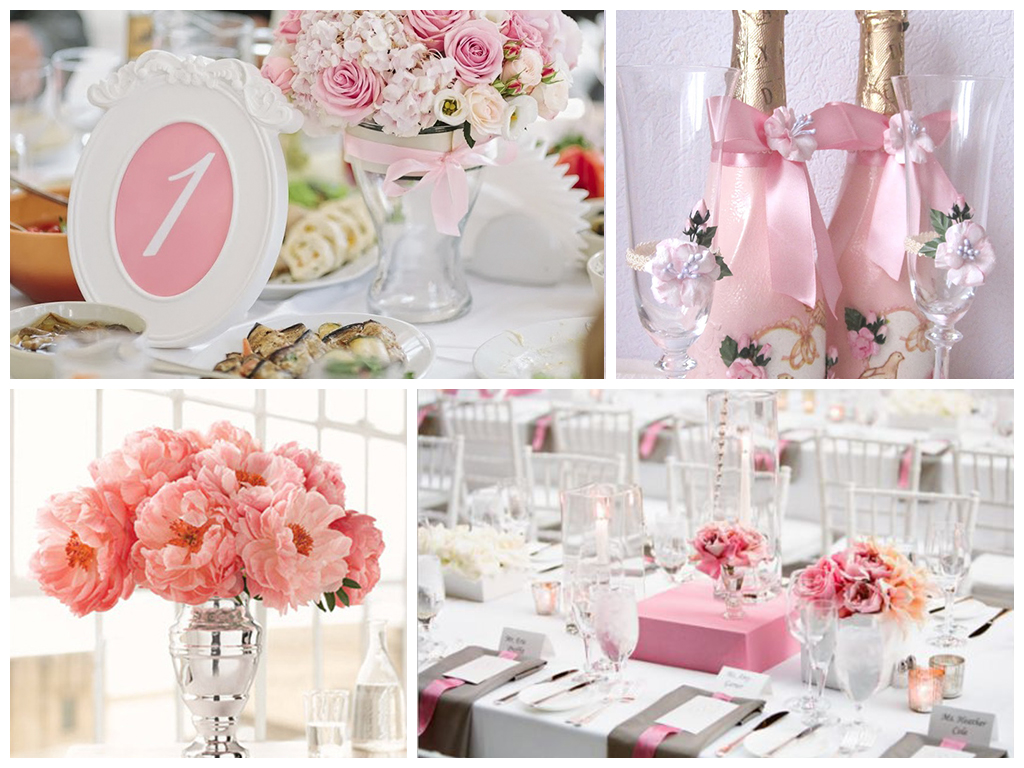 Оттенки розового для свадьбы