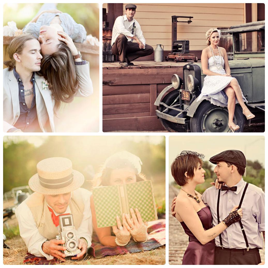 Свадьбы в винтажном стиле фото