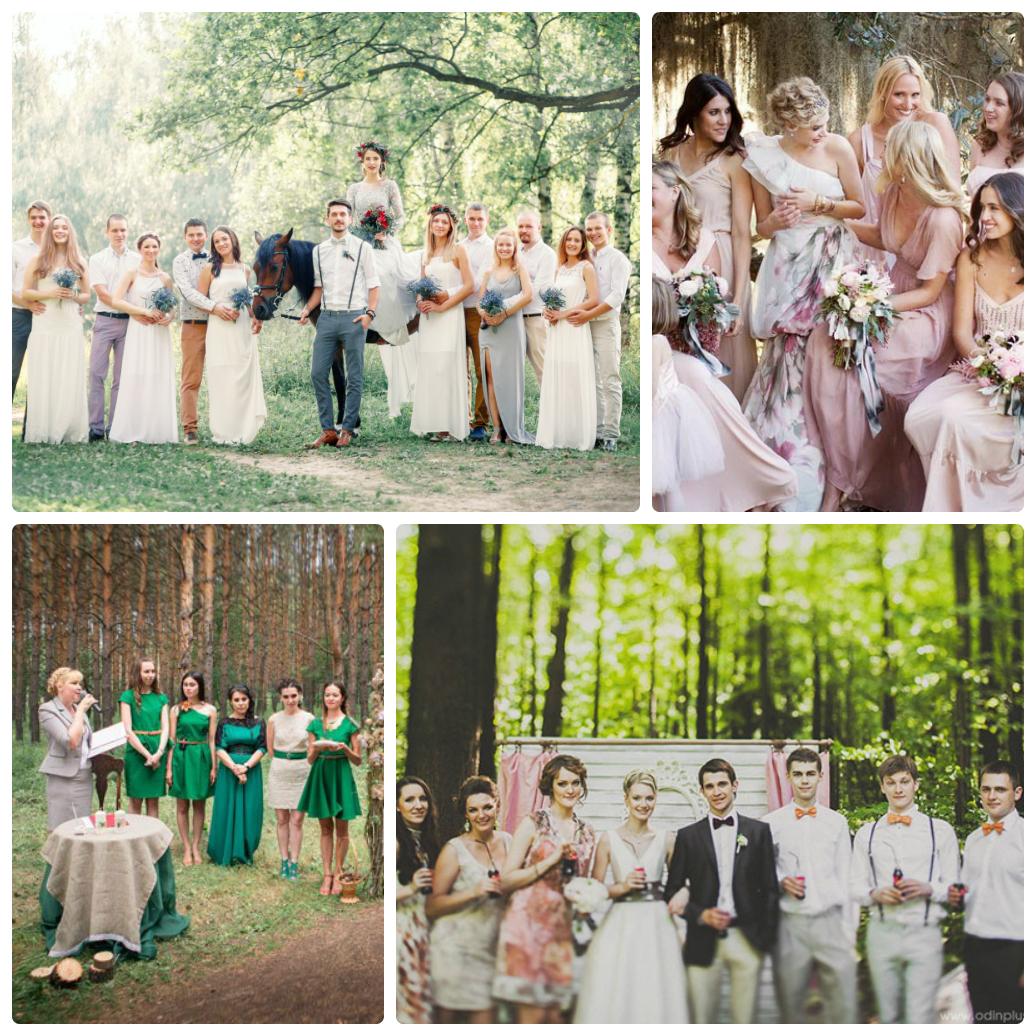 лесная свадьба фото