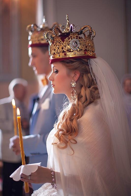 венчание молодые