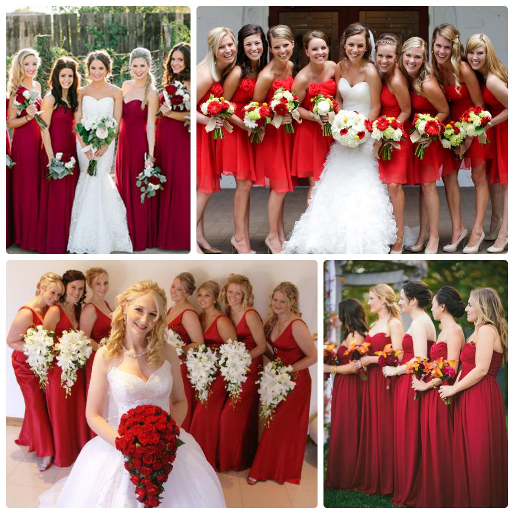 Фото свадьбы в красном тоне
