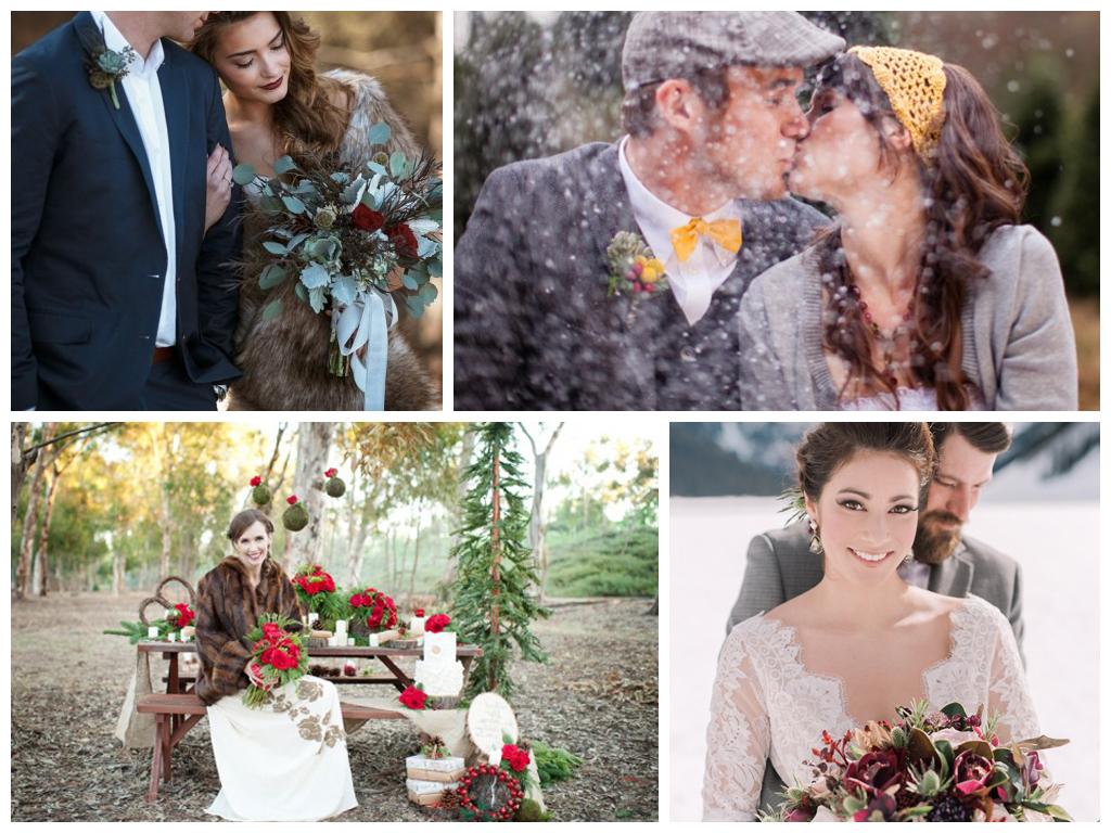 Зимняя свадьба в стиле рустик: особенности стиля, место проведения банкета, основные элементы оформления и образов молодоженов.