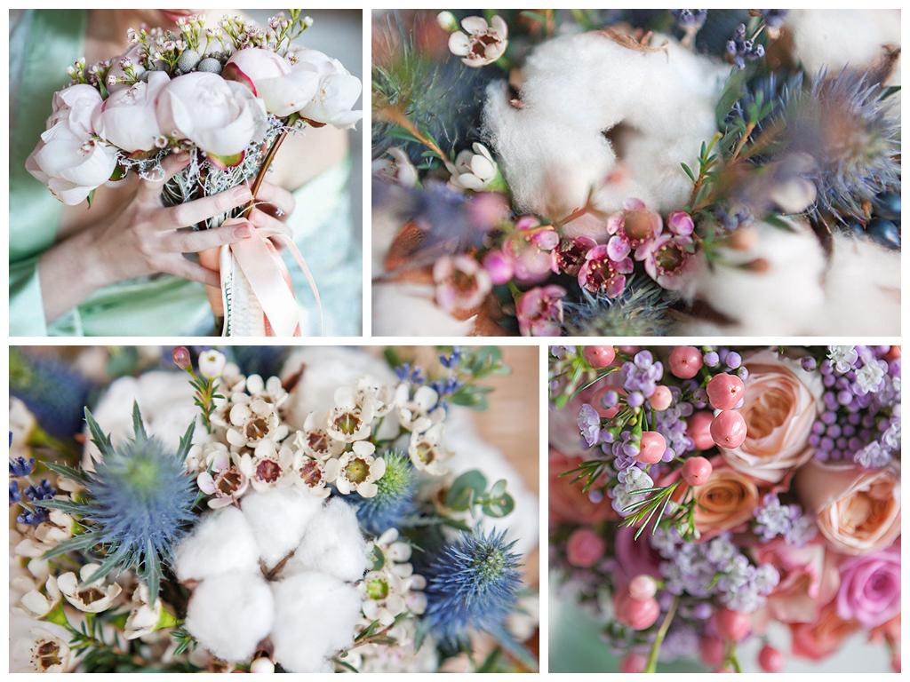 Как составить зимний букет невесты
